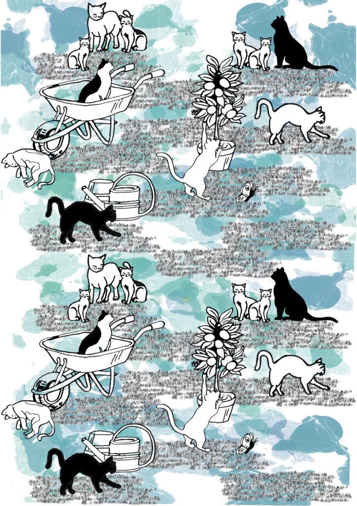 Glesni Ann Rees_cats in yard
