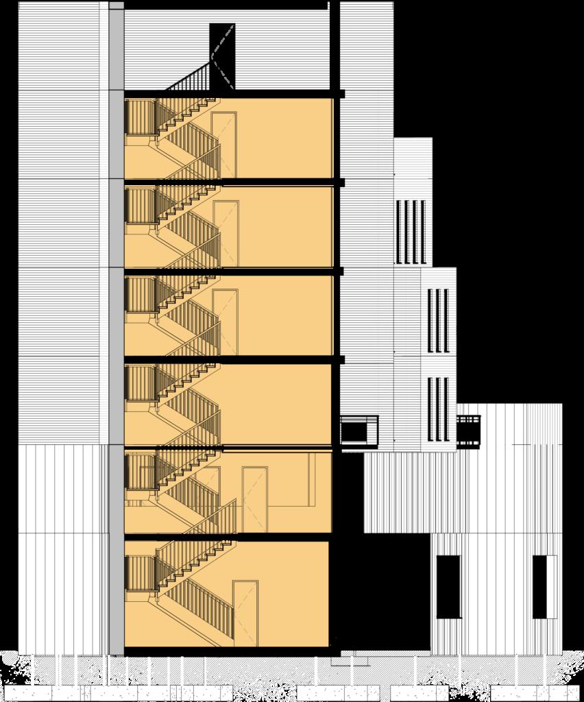 James Dalton Section Elevation
