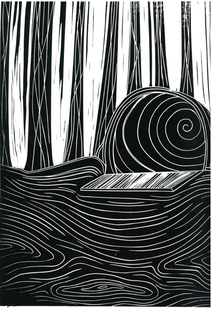 Jody Beddoes_2123798_assignsubmission_file_The Tunnel in the Red Forest Print