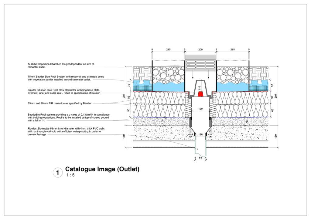Owain MorrisRainwater Outlet 2D Detail