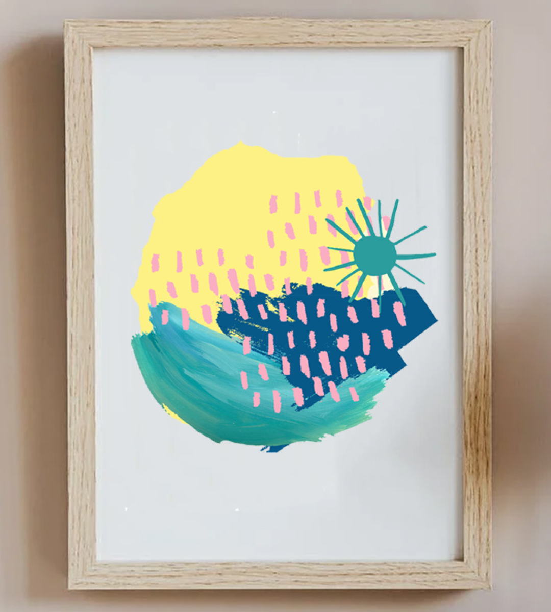 Abstract Oceans Frame
