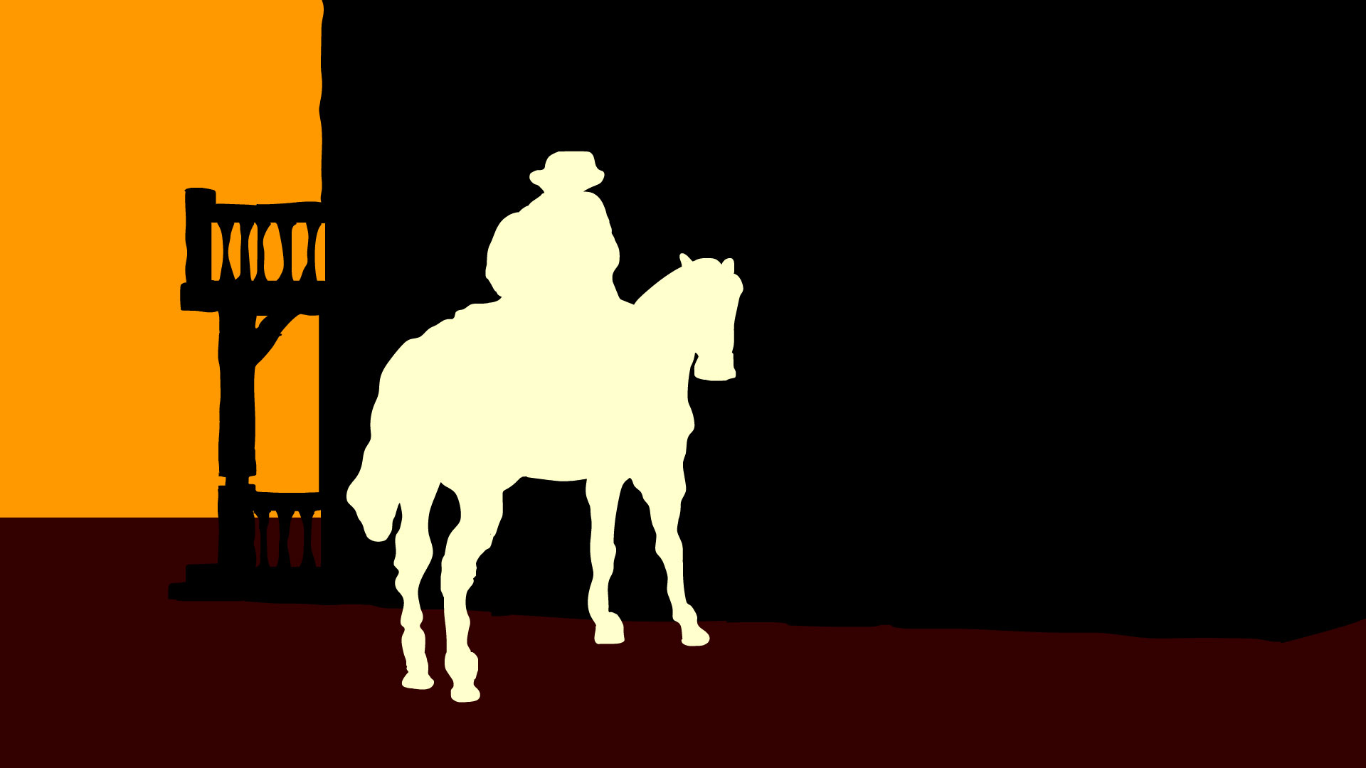 A film still from an Wild West inspired animation