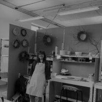 Caitlin Norman in her studio space