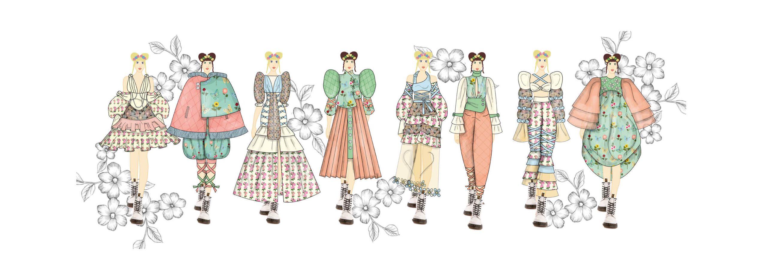 Portfolio page fully rendered line up in colour