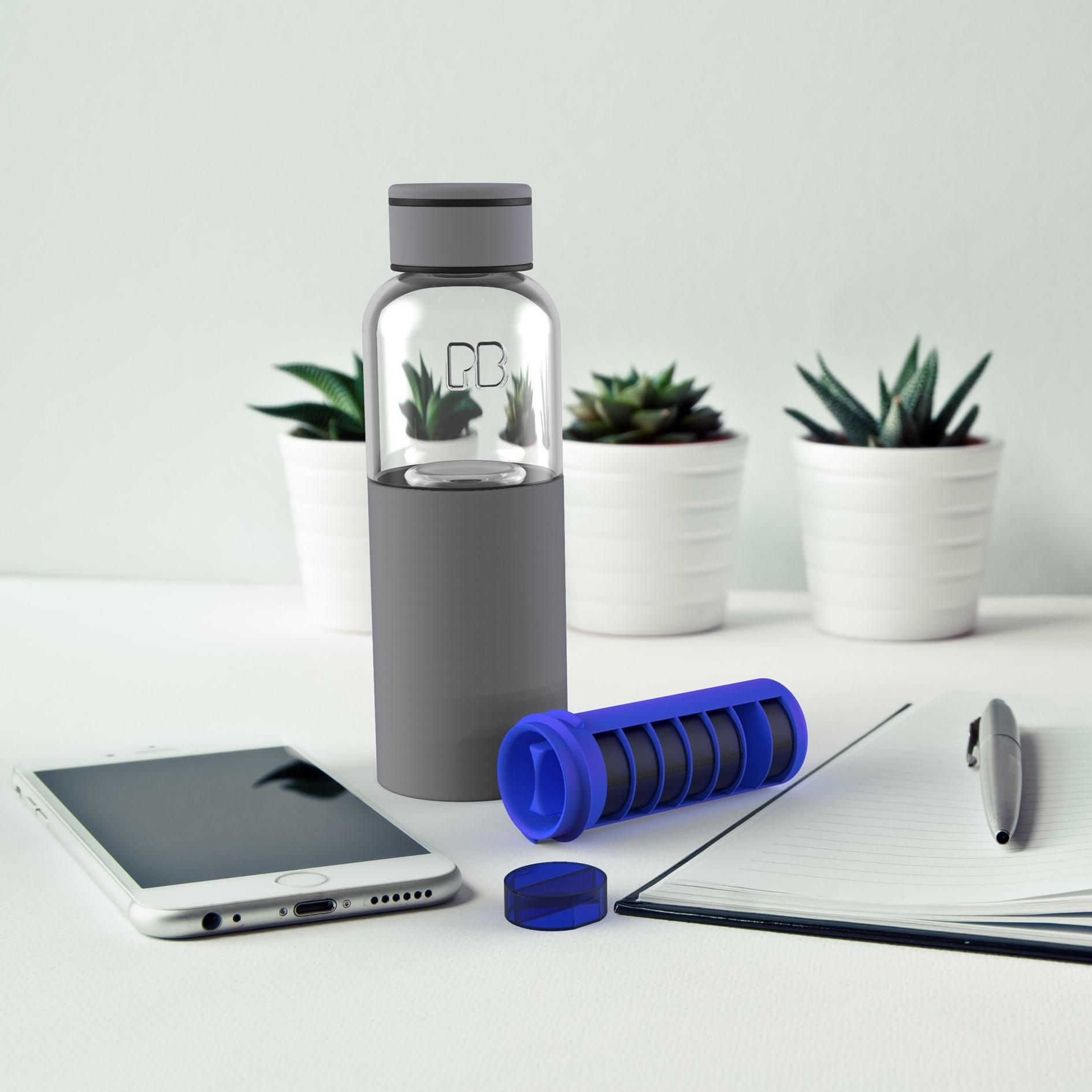 Water bottle & pill box